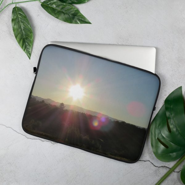 Orb Sunrise Laptop Sleeve by the wonder Dawg